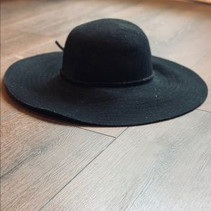 Gap Women's Black Felted Wool Floppy Hat Sm/Med